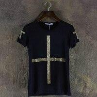 Metal Cross T shirt Mens T Shirts Fashion 2017 Summer Jesus Tshirt Men T Shirt Brand High Quality Christian T Shirts Funny New