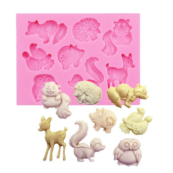 1PC Animal Series Deer Owl Shaped Fondant Silicone Mold Craft Cake Decorating Tools Chocolate Pastry Tool Baking Mold L029