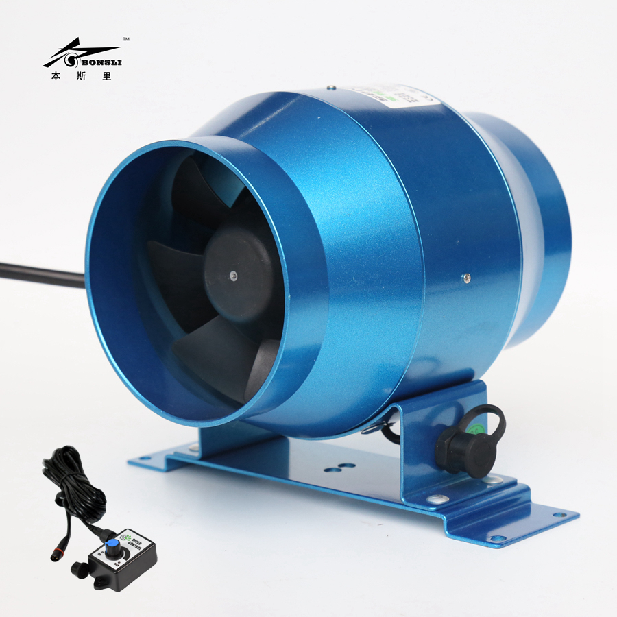 4'' 100mm diameter small ventilation fan blower 160CFM with speed controller