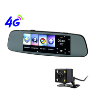 Otstrive 7 inch 4G Android 5.1 GPS Navigation WiFi Bluetooth Phone Call 1G RAM DVR Rear View Dual Camera Dash Cam Mirror GPS