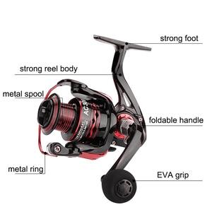 Image 3 - YUYU Metal Fishing Reel Spinning Reel for carp fishing metal spool 1000 2000 3000 4000 5000 6000 Ratio 5.5:1 Fishing Tackle