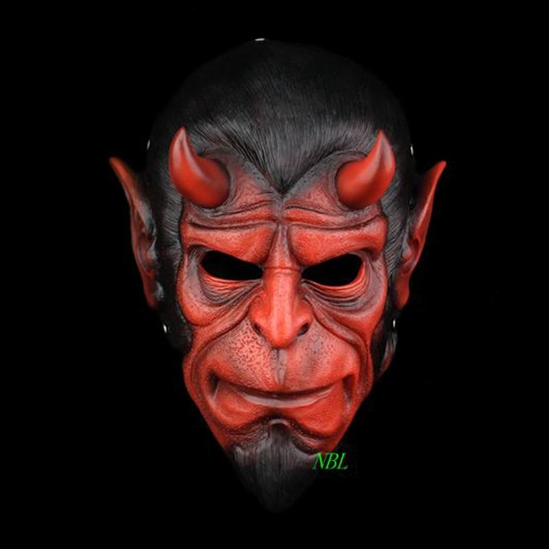 Halloween Hellboy pryskyřičná maska Full Face Superhero Sběratelská edice Film Horror Maškarní Cosplay masky Dospělý Velikost
