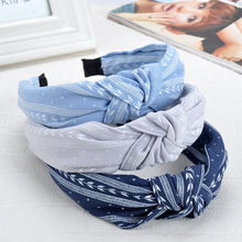 Women Headband Fashion Striped Hairband Hair Accessories Bow Knot Girls Bohemian Fabric Adults