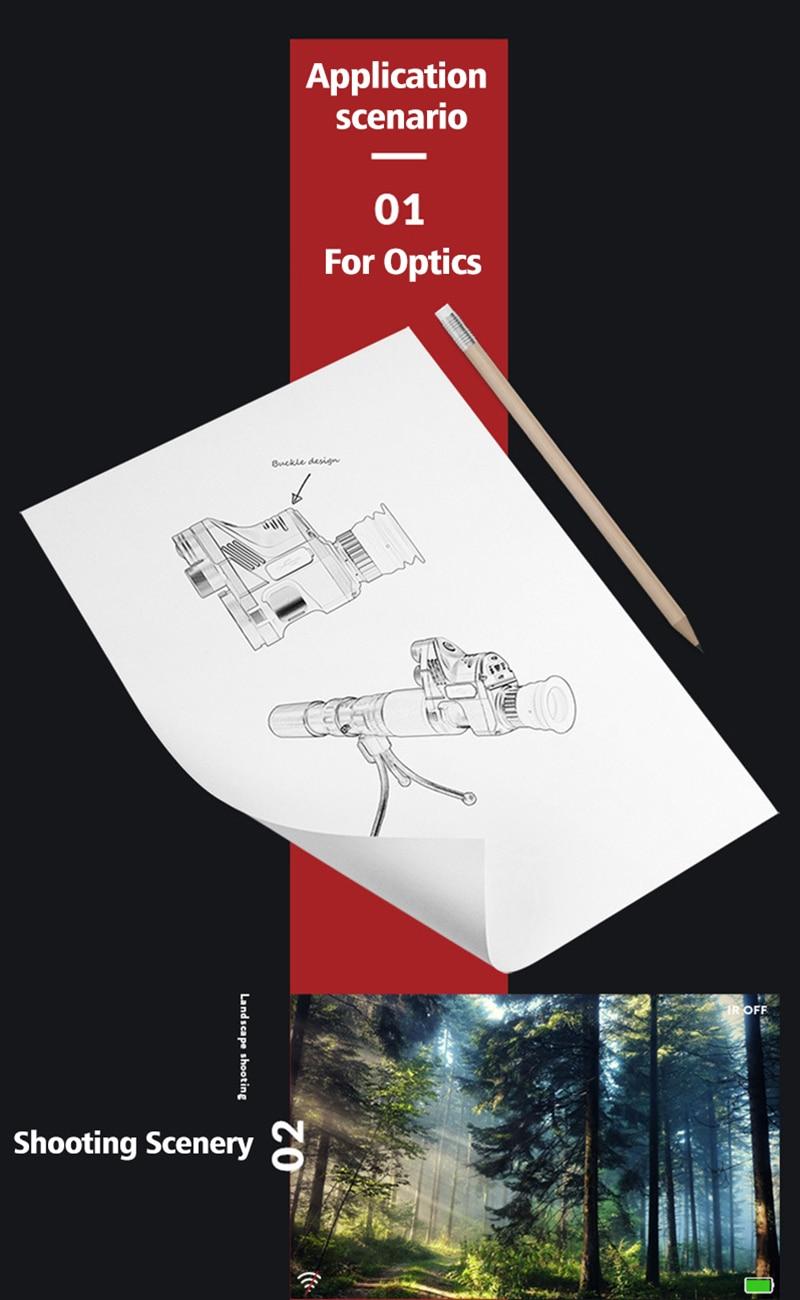 Infravermelha Digital Avistamento Telescope Dia Noite Riflescope