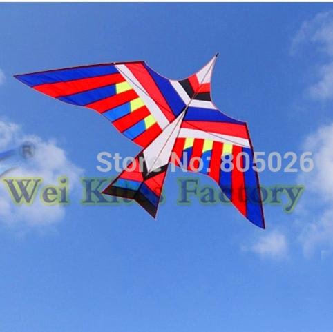 O envio gratuito de alta qualidade 3 m grande pássaro pipa fácil de voar maior com linha punho punhos aves pássaro batendo aeronaves de asa wei