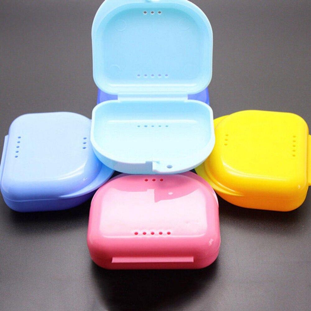 Ingenioso 1 Pc Portátil Dental Dientes Postizos Aparato Contenedor Plástico Dentadura Caja De Baño Dentaduras Cajas De Almacenamiento Limpiador