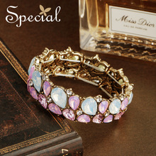 Special European Style Fashion Bracelets & Bangles Crystal Luxuy Rhinestones Jewelry Gifts for Women S1746C