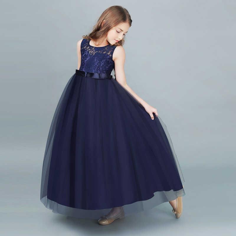 f558f5852 ... Niños vestidos de encaje para las niñas ropa de verano desgaste del  Partido de los niños