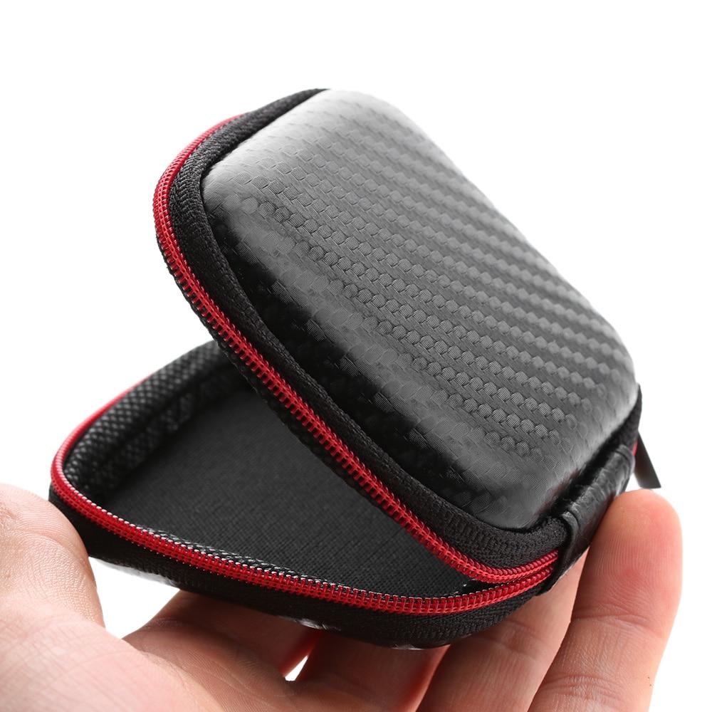 2018 New Sale Waterproof Portable Earphone Storage Bag Headset Pouch Bag Carrying Hard Case Zipped Box Fashion Mini Travel Bag