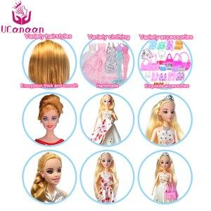 Image 5 - Bebek 83 aksesuarları DIY giydirme oyuncaklar kızlar için Fashionista nihai moda prenses bebek seti