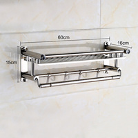 1 Piece Multi functional Stainless Steel Dish Rack Kitchen Storage Boxes Drainer Cup Dish Rack 50cm 60cm Holder