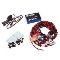 5 Sets Highlight 12 LED Flashing Light System Kit For RC Model Car 1 10 Scale