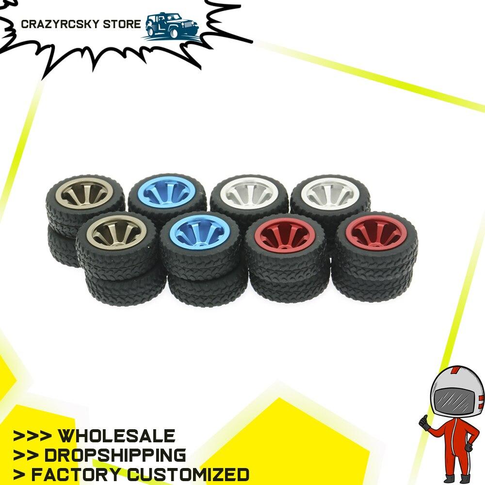 RCAWD 4PCS Alloy Rim Rally Wheel For Rc Model Car 1/28 Wltoys K969 K989 P929 Drift Rally Bigfoot Kyosho Mini-Z Mini-Q K989-53