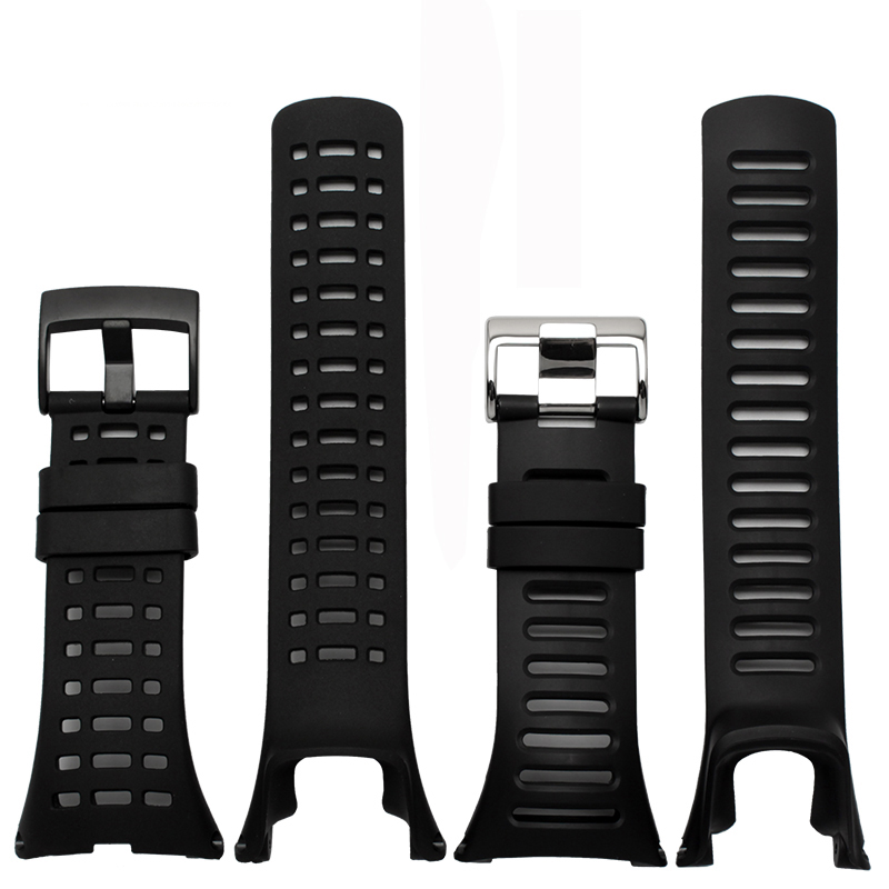 High Quality Black Rubber Strap Special For SUUNTO AMBIT Series 1/2/3 Silicone Strap Men Watch Accessories Bracelet