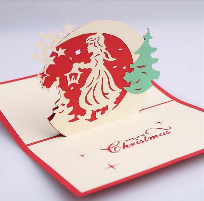 10pcs 3D Christmas Angel Handmade Kirigami Origami For Merry ...