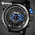 INFANTRY Men Watches Waterproof Analog-Digital Watches Alarm Clock Dual Time Wristwatches Relogio Masculino WORLD PEACEKEEPERS