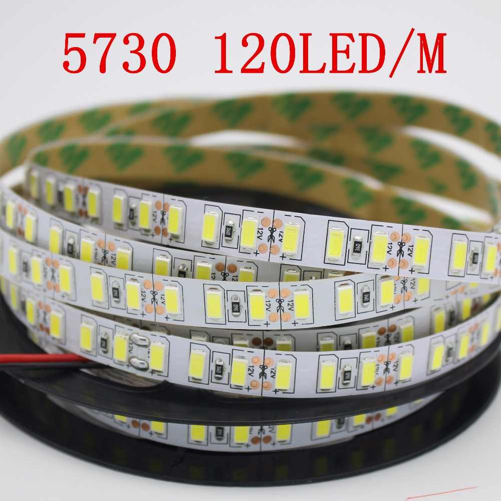 Super terang 5 m 5730 LED strip 120 led/m IP20 Tidak tahan air, 12 V fleksibel 600 LED tape, 5630 LED pita, putih/hangat warna putih