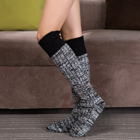 1 Pair Women's Knitted Boot Socks Boot Cuffs Toppers Knit Leg Boot Knee High Leg Warmers Sock