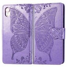 Capa For iPhone 11 Pro Plain Phone Case apple XR X XS Max 6 6S 7 8 Plus Flip Fundas Butterfly Bags 5.8 6.1 2019 P05F