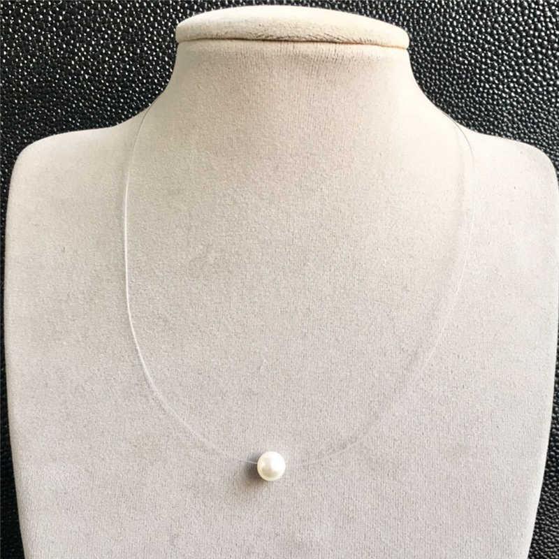 LUSION, трендовая рыболовная леска, имитация жемчуга, круглое ожерелье для женщин, массивное ожерелье, s & Кулоны, колье, ювелирное изделие, Летние подарки