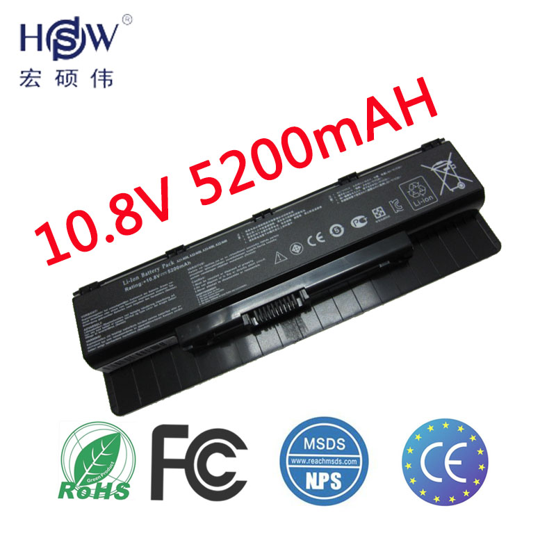 Аккумулятор для ноутбука HSW Для ASUS A31-N56 A32-N56 A33-N56 N46 N76 N56 N46V аккумулятор N56V B53V B53A F45A F45U N76V R500N N56D аккумулятор