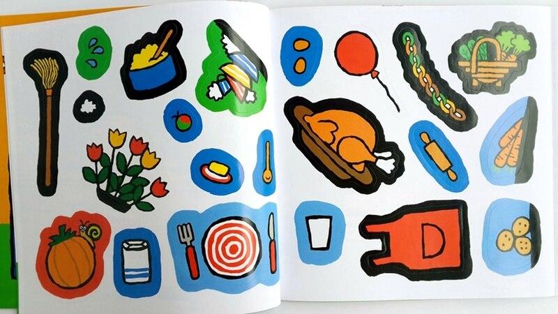 12 livres/Set Maisy Sac De Natation Vague Souris Souris Anglais Livre D'images Livre D'histoire Pour Enfants Sticker Book Enfants Jeux IQ EQ Formation - 3