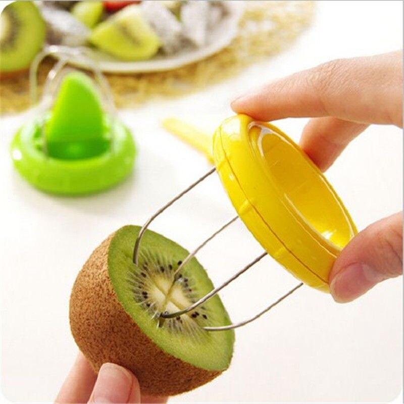 1PCS Stainless Steel Mini Fruit Kiwi Cutter Peeler Slicer Kitchen Gadgets Tools