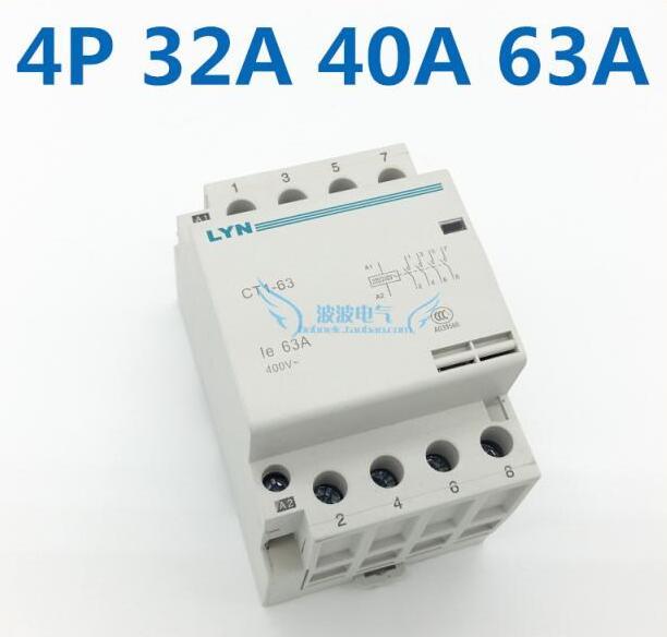 Замыкатель ct1/63/4 P 40A 4NO 220/240