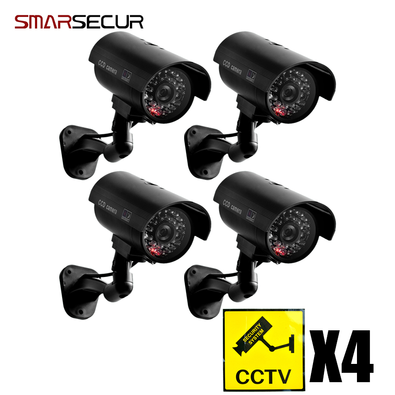 Free gift alarm sticker Dummy CCTV Camera With Flashing LED For Outdoor or Indoor Realistic Looking Fack Camera for Security waterproof dummy cctv camera with flashing led for outdoor or indoor realistic looking fake camera for security