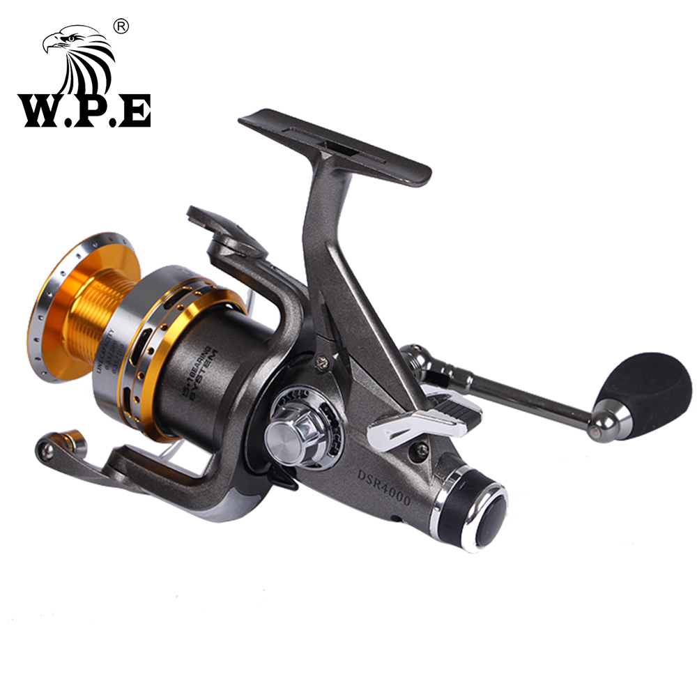 W.P.E DSR 4000 5000 6000 Series Spinning Fishing Reel with Front and Rear Drag System 5+1 Ball Bearings 5.0:1 4.6:1 Fishing Reel