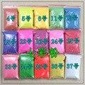 Colorido serie fina de uñas glitter powder polvo de fósforo para DIY del arte del clavo, 500 g/bolsa, material de decoración, publicidad pigmento