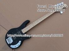Лидер продаж черные Music Man электрический бас Гитары 5 строка Стингрэй бас Гитары от китайского музыкальный инструмент фабрики