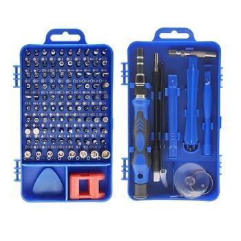цена на 115 in 1 Precision Screwdriver Bit Set Multi-Function hand tools destornillador ratchet Torx screw driver set adaptador de punta