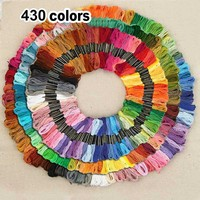 430 Colors Polyester Embroidery Thread Cross Stitch Thread Pattern Kit Embroidery Floss Sewing Skein @LS
