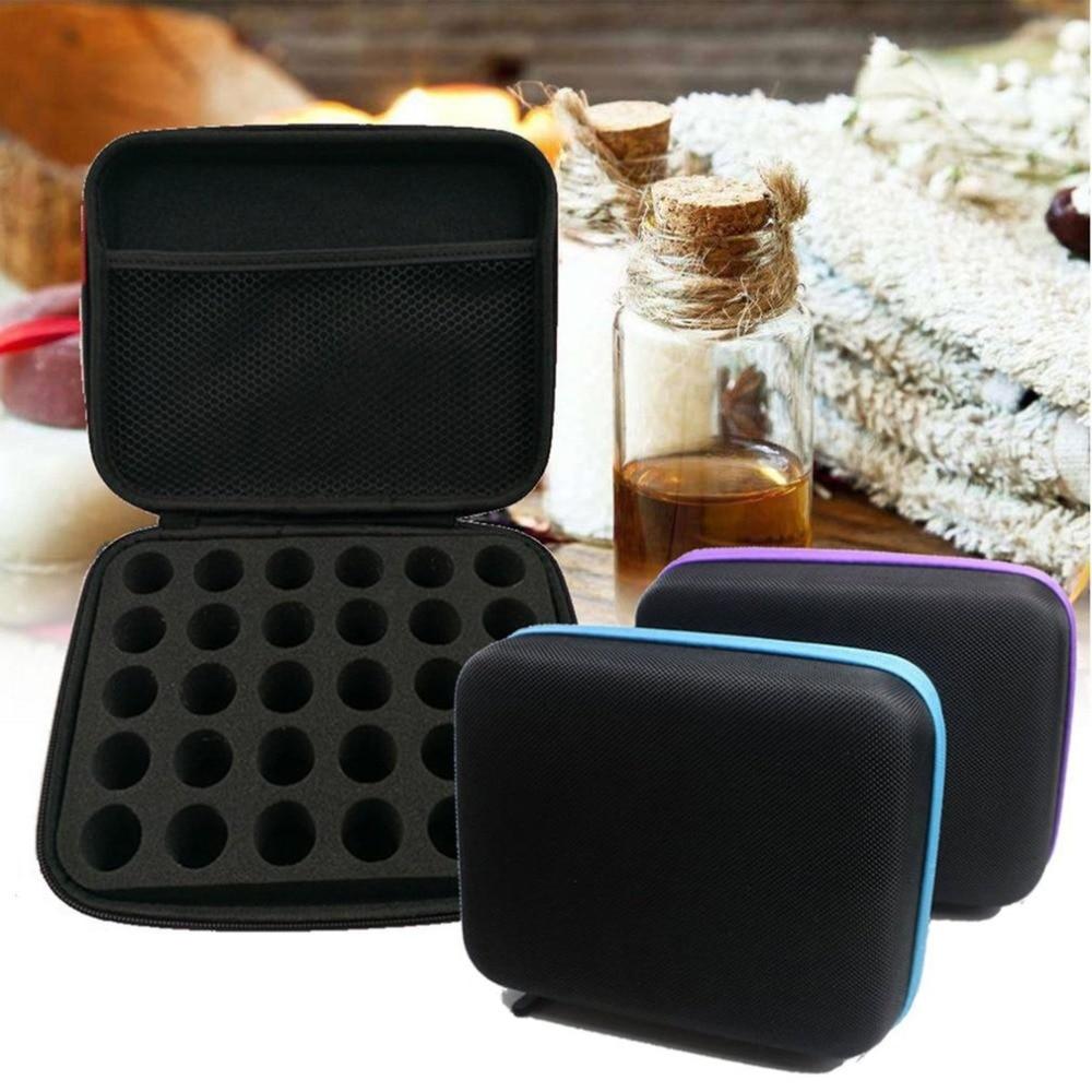 Caja de aceite esencial 30 botellas 5ML10ML 15 ml de aceite de Perfume de aceite esencial de caja de viaje portátil del esmalte de uñas de almacenamiento bolsa