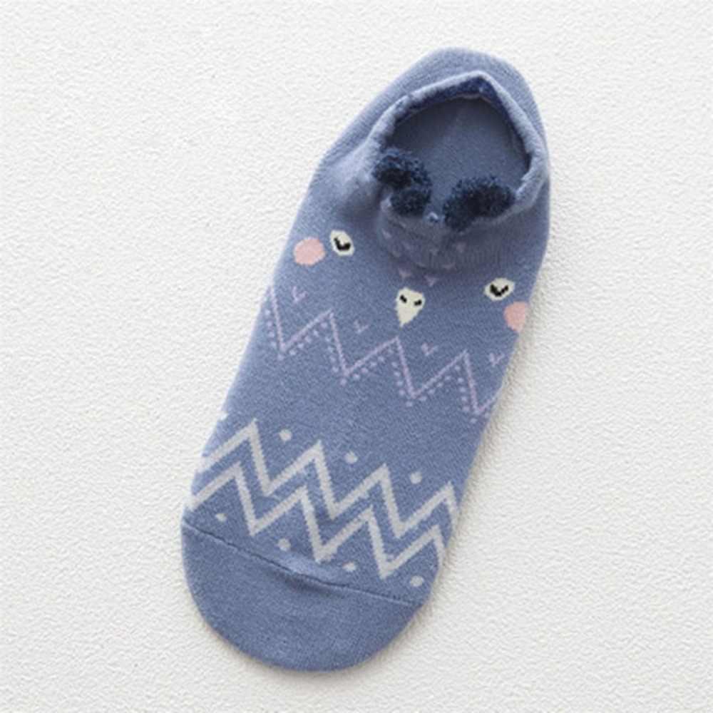 Filles mignon Animal coton chaussettes femme Kawaii chat avec chien été chaussettes courtes pantoufles femmes décontracté doux drôle bateau chaussettes