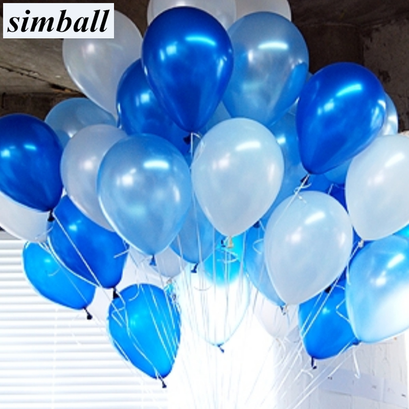 10pcs/lot 1.5g Light Blue Latex Balloon 21 Colors Air Balls Inflatable Wedding Decoration Happy Birthday Party Balloons Supplies