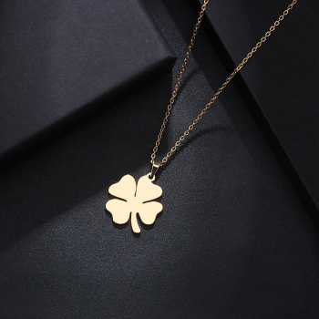 Stainless Steel Necklace For Women Man Lover's Clover Gold And Silver Color Pendant Necklace Engagement Jewelry Fashion Jewelry