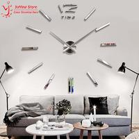 2014 New Big 3D Digital Mirror Wall Clock Modern Design Large Decorative Wall Clocks Watch Wall