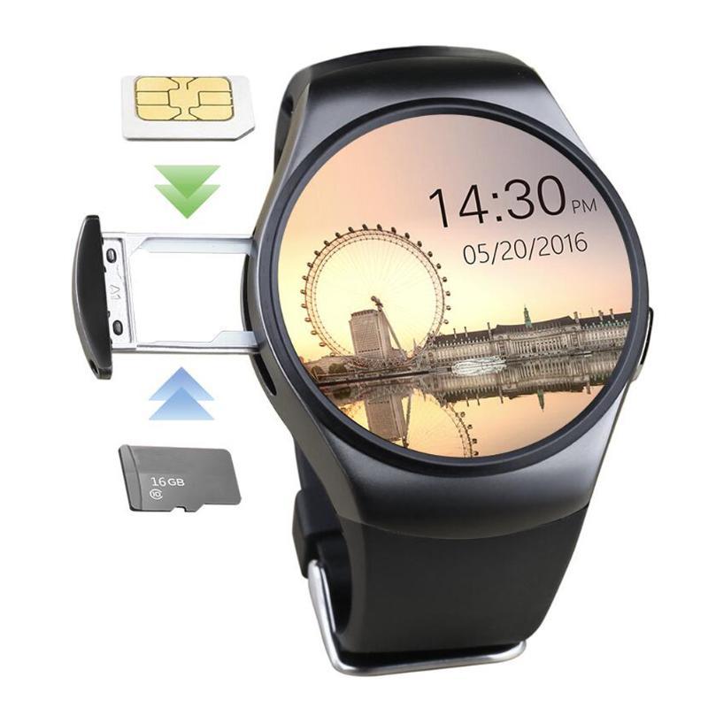 Bluetooth Android Smart Watch KW18 MTK2502C 1.3 Inch HD IPS Round Screen Bluetooth 4.0 Smartwatch Sim for IOS Android Phone мужская футболка gildan t lol 3016174