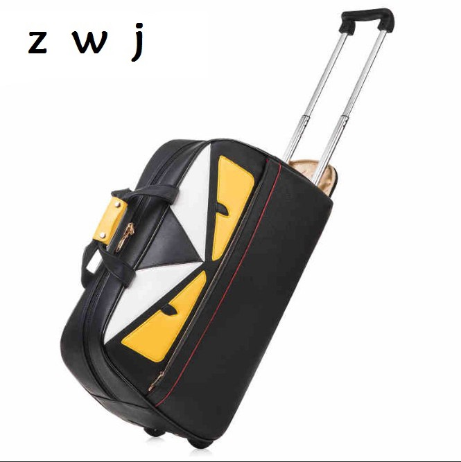 264b6f4cce19 20 21 inch monster luggage travel bag large capacity trolley bag women  handbag travel bag famous brand Travel Duffle-in Travel Bags from Luggage    Bags on ...