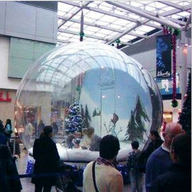 inflatable snowflake ball or inflatable snow globe 4 M diameter Cartoon background exhibition start business  Christmas