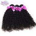 QUEEN STORY 4 Связки Перуанский kinky вьющиеся волосы девственницы Необработанные Вьющиеся Weave Человеческих Волос Кудрявый Вьющиеся Волосы Перуанской Волосы Девственницы