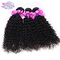 QUEEN STORY 4 Bundles Peruvian kinky curly virgin hair Unprocessed Curly Weave Human Hair Kinky Curly Hair Peruvian Virgin Hair