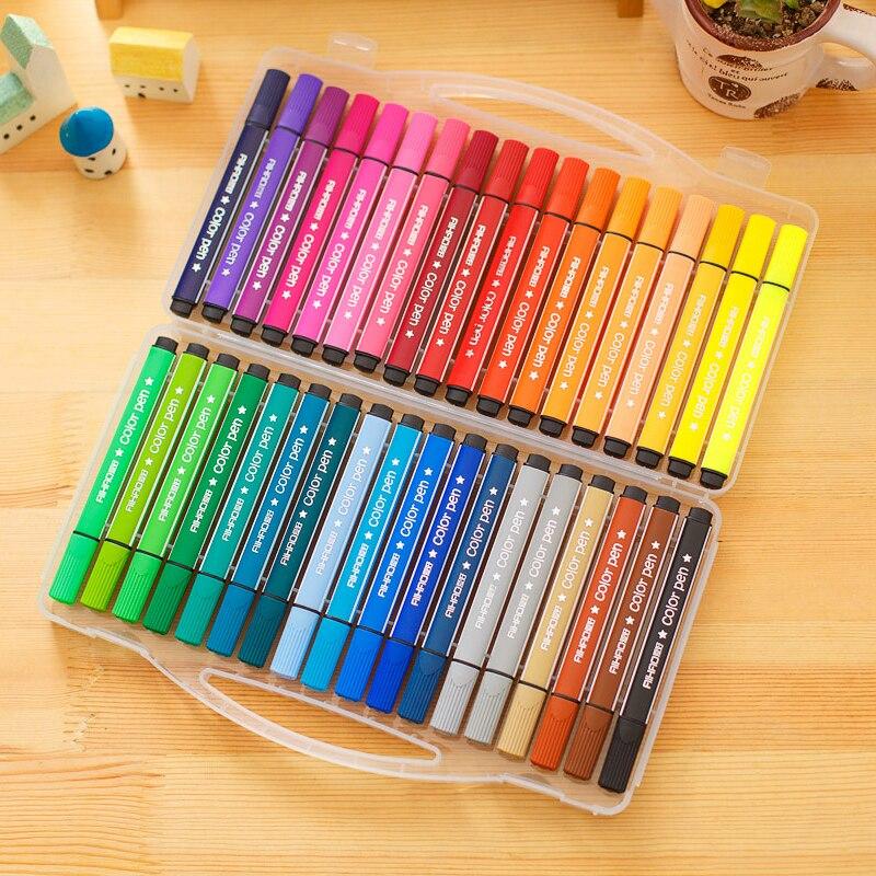 Цветная ручка, художественный маркер, набор для рисования, детская Акварельная ручка, безопасная, Нетоксичная, для мытья водой, граффити, дл...