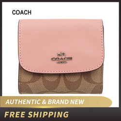 Coach F87589 Small Wallet Signature PVC Leather F87589