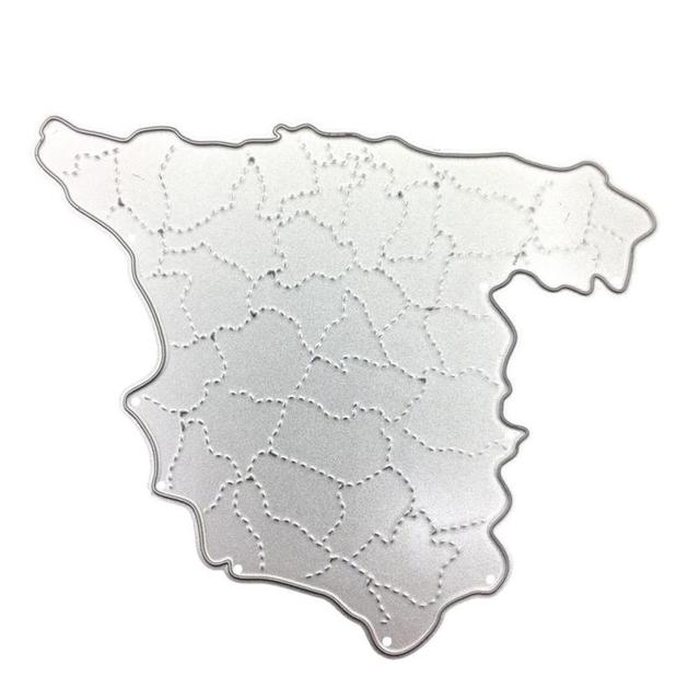 Football Map Of Spain.Us 2 53 48 Off House Lc New Spain 2018 Football Game National Map Metal Cutting Dies Stencil Diy Embossing Hot 18apr18 Drop Ship In Cutting Dies