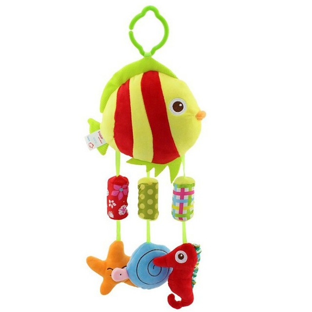 Infant Rattles Mobiles Baby Toys Educational Early Learning Fish  Animals Cartoon Shaped Children Favor Baby Shower Supplies