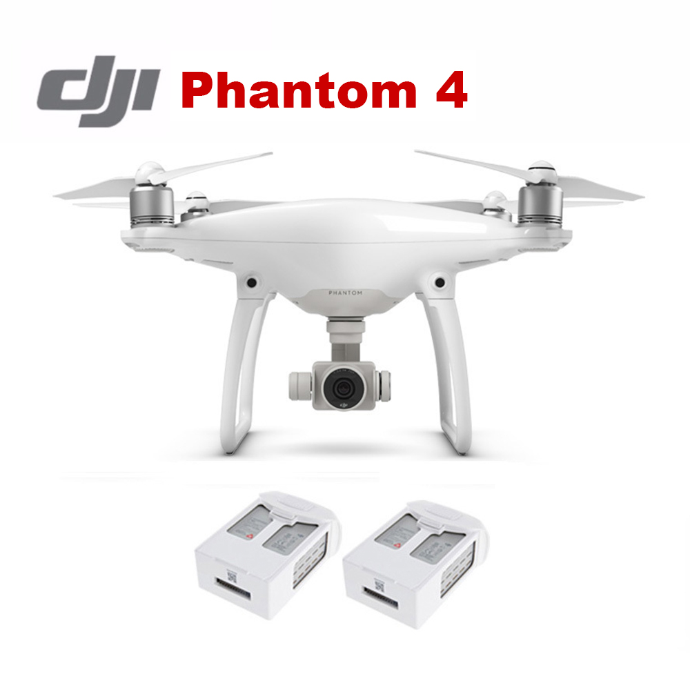 Original DJI Phantom 4 With 2 Pcs Extra 15.2V 5350mAh Battery Free Shiping Via EMS