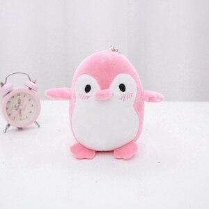 Image 5 - Kawaii 4 colores dulce 12CM aprox. Mini pingüino de peluche colgante juguete de peluche, llavero pingüino regalo fiesta de boda juguete de peluche